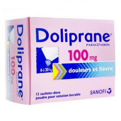 Doliprane 100 mg poudre 12 sachets