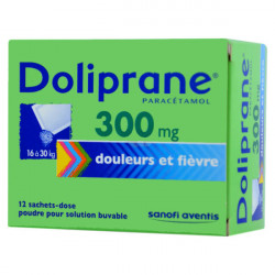 DOLIPRANE 300 mg Poudre pour solution buvable boîte de 12 sachets-dose