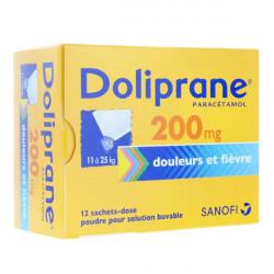 Doliprane 200 mg 12 sachets