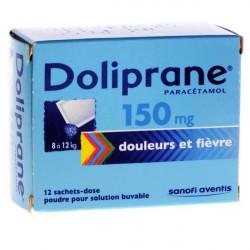 Doliprane 150 mg poudre 12 sachets