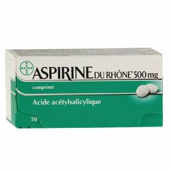 ASPIRINE DU RHÔNE 500 mg, 50 comprimés