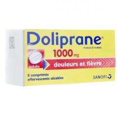 Doliprane 1000 mg, 8 comprimés effervescents sécables