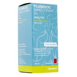 Fluimucil 2% sans sucre solution buvable 200ml