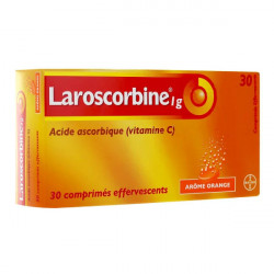 LAROSCORBINE 1 g, 2 tubes de 15 comprimés effervescents