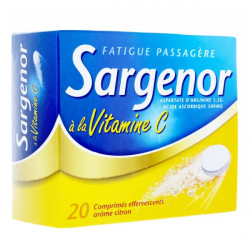 Sargenor vitamine C 20 comprimés effervescents