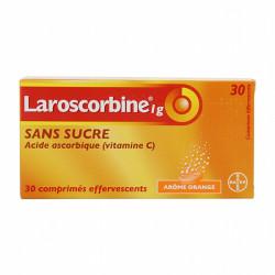 LAROSCORBINE SANS SUCRE 1 g, 30 comprimés effervescents