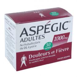 ASPEGIC ADULTES 1 000 mg Poudre pour solution buvable boîte de 30 sachets-dose
