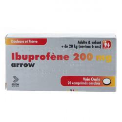 IBUPROFENE ARROW 200 mg, comprimé enrobé, boîte de 20