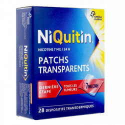 NIQUITIN 7 mg/24h, 28 patchs
