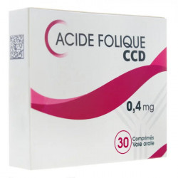 Acide folique CCD 0,4mg 30 comprimés