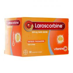 Laroscorbine 500mg sans sucre 30 comprimés à croquer