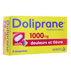 Doliprane 1000 mg 8 comprimés