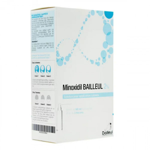 Minoxidil 2% solution 3 x 60 ml
