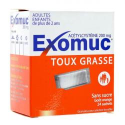 Exomuc 200 mg granulés 24 sachets