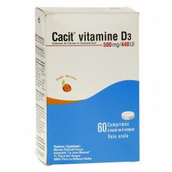 CACIT VITAMINE D3 500 mg/440 UI, 60 comprimés à sucer ou à croquer