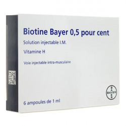 Biotine injectable 6 ampoules