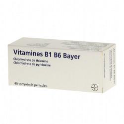 VITAMINE B1 B6 BAYER, 40 comprimés pelliculés