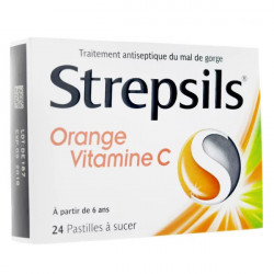 Strepsils orange vitamine C 24 pastilles