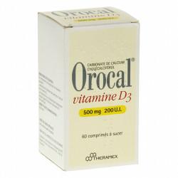 OROCAL VITAMINE D3 500 mg/200 U.I., 60 comprimés à sucer