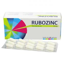 RUBOZINC 15 mg, 60 gélules