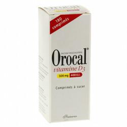 OROCAL VITAMINE D3 500 mg/400 U.I., 180 comprimés à sucer