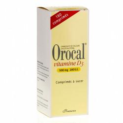 OROCAL VITAMINE D3 500 mg/200 U.I., 180 comprimés à sucer