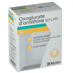Oxoglurate d'ornithine 5 g MYLAN 10 sachets-doses