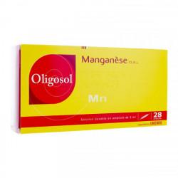 Oligosol manganèse 28 ampoules