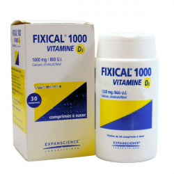 Fixical 1000 Vitamine D3 1000mg/800 UI comprimés