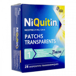 Niquitin patch anti tabac 21mg/24 h 28 patchs