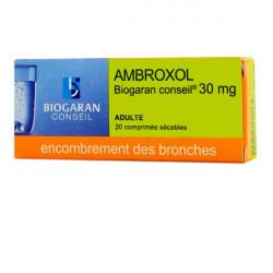 AMBROXOL BIOGARAN CONSEIL 30 mg, comprimé sécable, boîte de 20