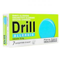 Drill Allergie Cetirizine 10 mg 7 comprimés à sucer