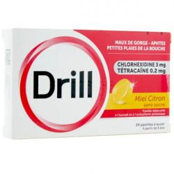 Drill Miel Citron sans sucre pastille à sucer boite de 24 pastilles
