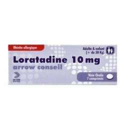 Arrow Loratadine conseil 10mg boîte de 7 comprimés