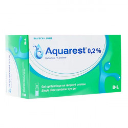 Aquarest gel ophtalmique 60 unidoses