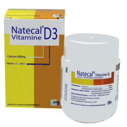 NATECAL VITAMINE D3, 600 mg/400 UI, comprimé orodispersible