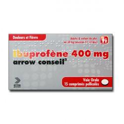 IBUPROFENE ARROW CONSEIL 400 mg, comprimé pelliculé, boîte de 15