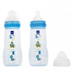 MAM Easy Active liquides épais Bleu 2 x 330 ml