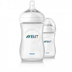 Avent Natural Biberon 260 ml 1 Mois et + Lot de 2