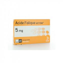 ACIDE FOLIQUE ARROW 5 mg, comprimé, boîte de 20