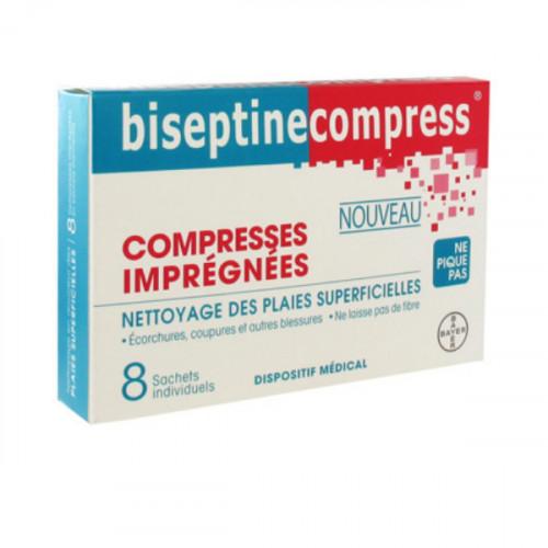 Bayer Biseptinecompress 8 Compresses Imprégnées