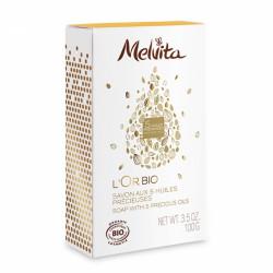 MELVITA L'OR BIO SAVON AUX 5 HUILES PRÉCIEUSES 100 G