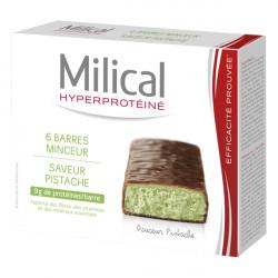 MILICAL Barre Minceur Chocolat Pistache, 6 barres