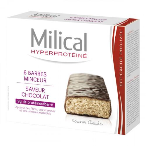 MILICAL Barre Minceur Chocolat , 6 barres