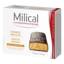 MILICAL Barre Minceur Chocolat Orange, 6 barres