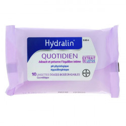 Hydralin Apaisa 10 lingettes intimes