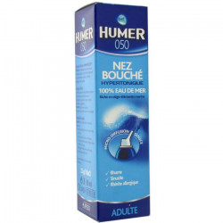 HUMER 050 ADULTE Nez bouché hypertonique 100% eau de mer 50ml
