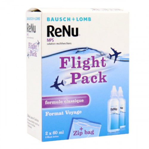 Bausch + Lomb ReNu MPS Solution Multifonctions Spécial Avion Lot de 2 x 60 ml