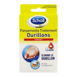 Scholl Pansements Coricides pour Durillons boîte de 4