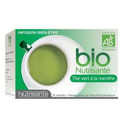 Bio Nutrisanté Thé Vert à la Menthe  20 Ssachets